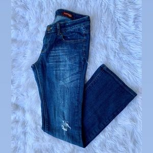 Express Eva boot leg jeans size 4 long